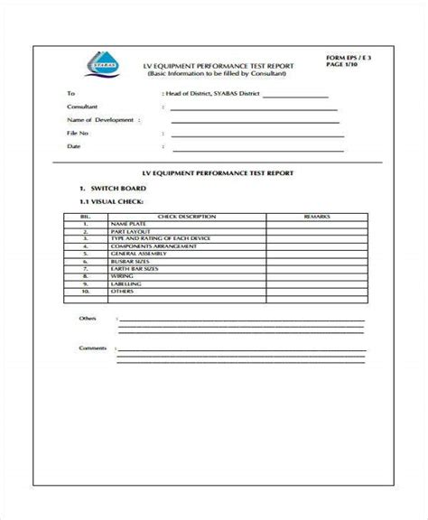 10+ Test Report Templates - Free Word, PDF Format Download